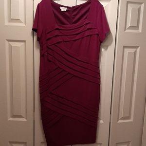 Plus Size Purple Bandage Bodycon Dress-16W